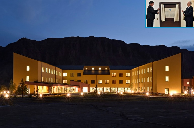 The UCA Naryn Campus reflects the first of a multi-phase construction plan.