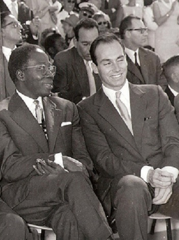 19610407_Aga Khan and President Senghor at Senegal Independence Day Celebrations in Dakar
