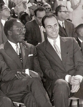 19610407_Aga Khan and President Senghor at Senegal Independence Day Celebrations in Dakar