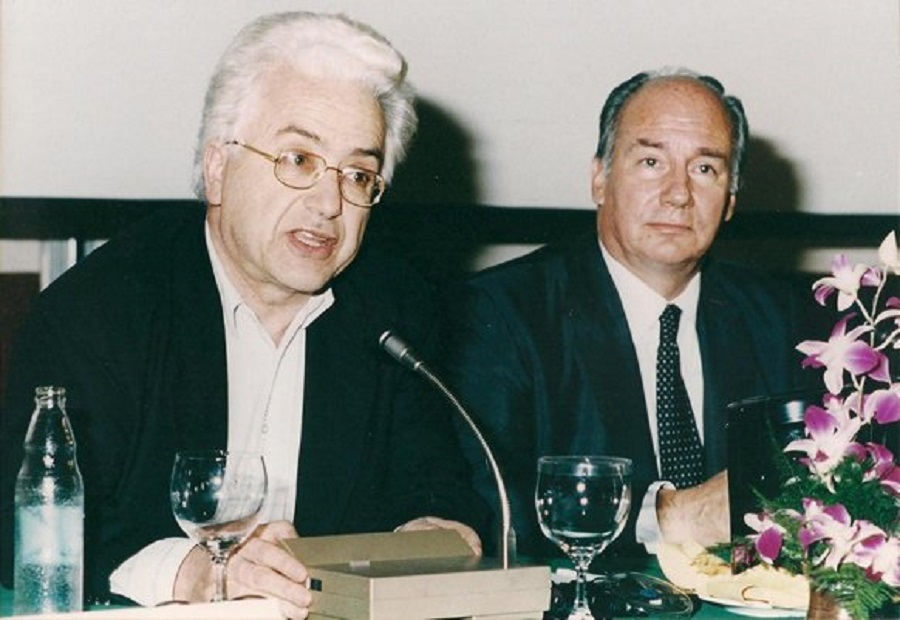 Mohamed Arkoun and the Aga Khan. The late Algerian scholar served for many years on the Aga Khan Award for Architecture.