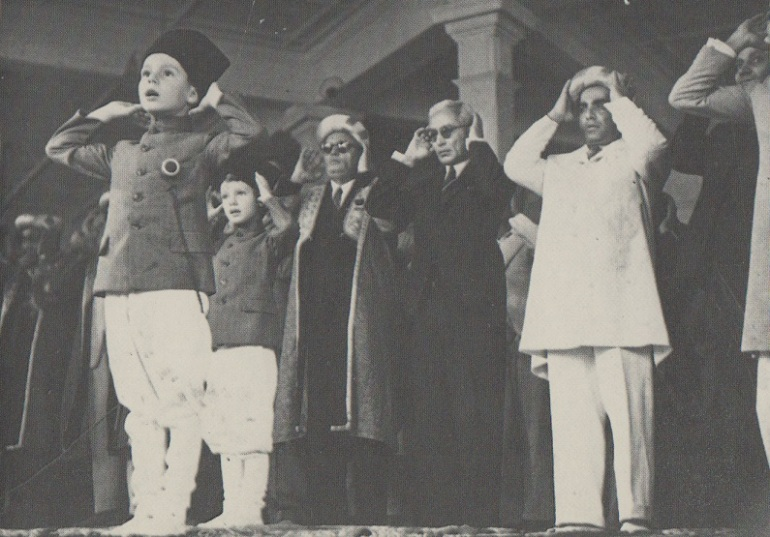 Prince Karim Aga Khan reciting Idd Namaz on the occasion of Idd ul Fitr