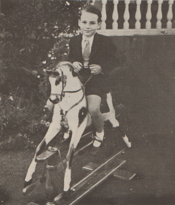 Prince Karim on a rocking horse. Photo: Africa Ismaili.