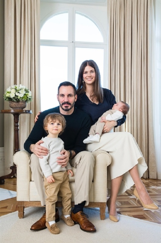 Aga Khan Family: Prince Rahim and Princess Salwa with Prince Irfan and Prince Sinan, who was born on 2 January 2017. TheIsmaili