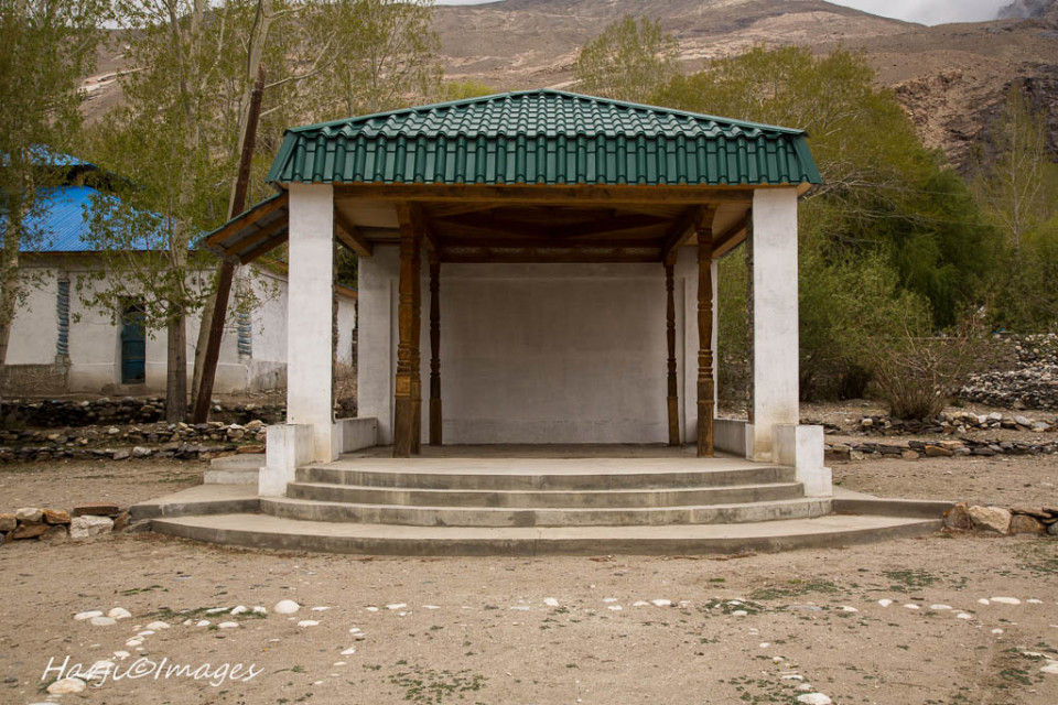 Aga Khan stage in Landar Badakhshan where he met his community 1995