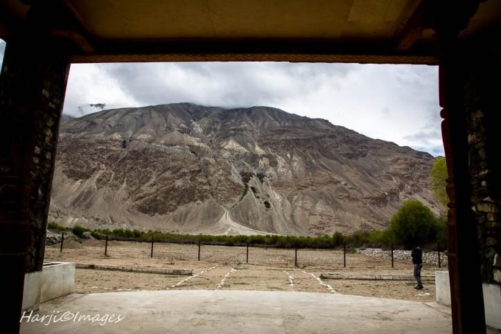 Aga Khan meeting location with his community in Langar Badakhshan, 1995 visit.