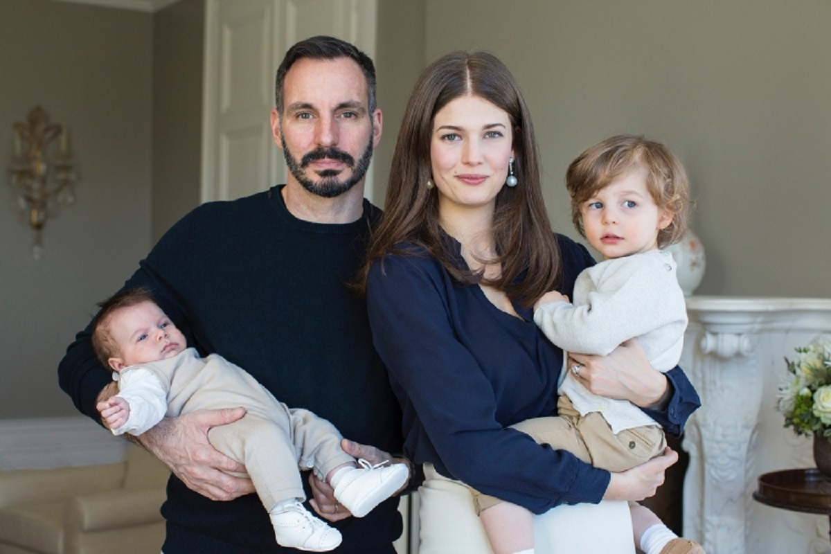 Prince Rahim and Princess Salwa hold their sons Prince Sinan and Prince Irfan. Photo: The Ismaili.