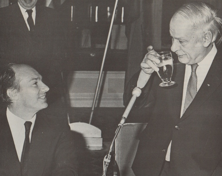 Aga Khan toasted by Rene Levesque, Montreal 1983