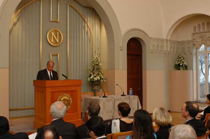 His Highness the Aga Khan delivers his address entitled,