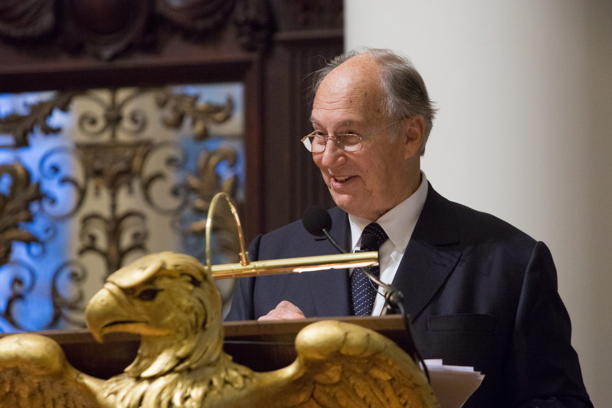 "His Highness the Aga Khan spoke as part of the Samuel L. and Elizabeth Jodidi Lecture series, which provides for ""the delivery of lectures by eminent and well-qualified persons for the promotion of tolerance, understanding and good will among nations, and the peace of the world"