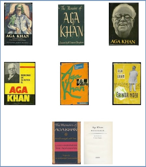 The Memoirs of Aga Khan in seven languages. A gujarati translation was also published.
