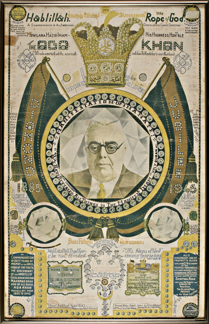 An intriguing poster created in the 1940's by Major Lakhpaty. Poster from the Abdulmalik Thawer Collection. Photo Scan by: Guy Martin Studio, Ottawa.