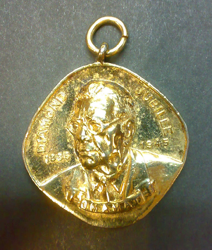 Obverse of a medal commemorating the Diamond Jubilee of Aga Khan III. Photo: Nizar Noorali Collection, Pakistan