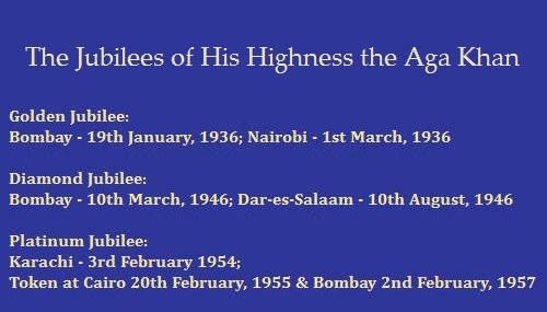 Aga Khan III Jubilee Dates
