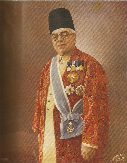 The Aga Khan in full regalia