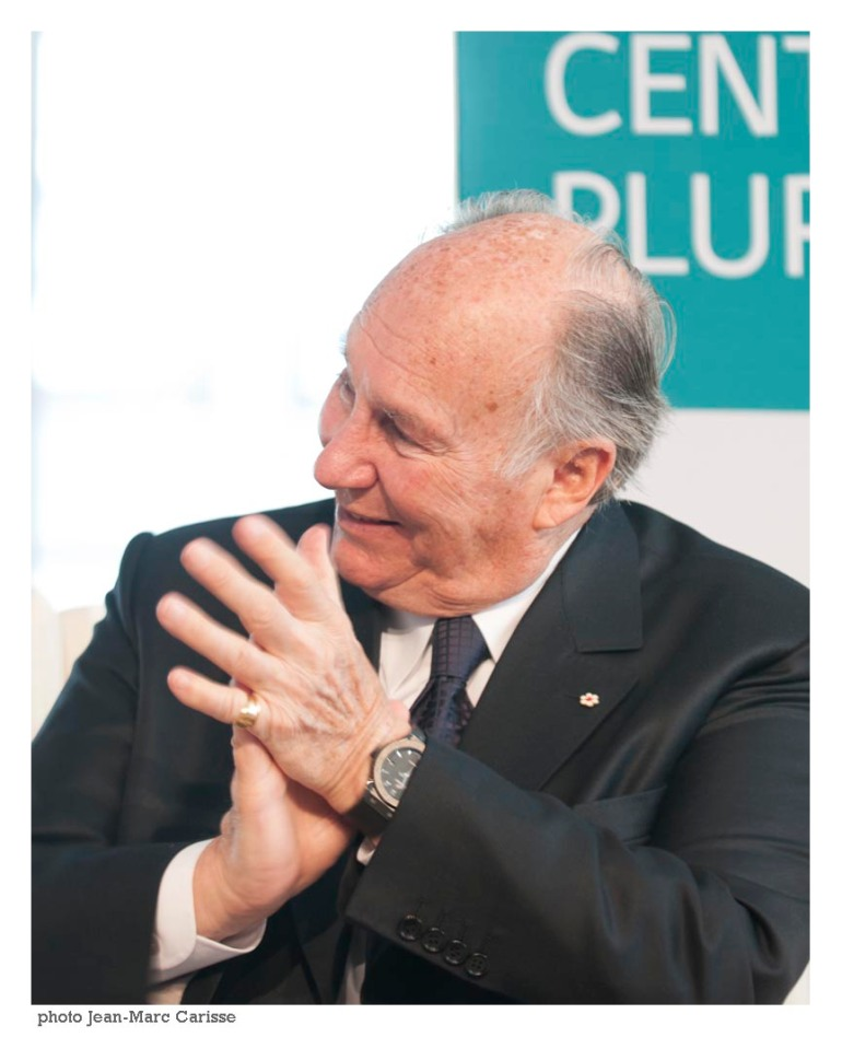 His Highness the Aga Khan pictured during the opening of the Global Centre of Pluralism.