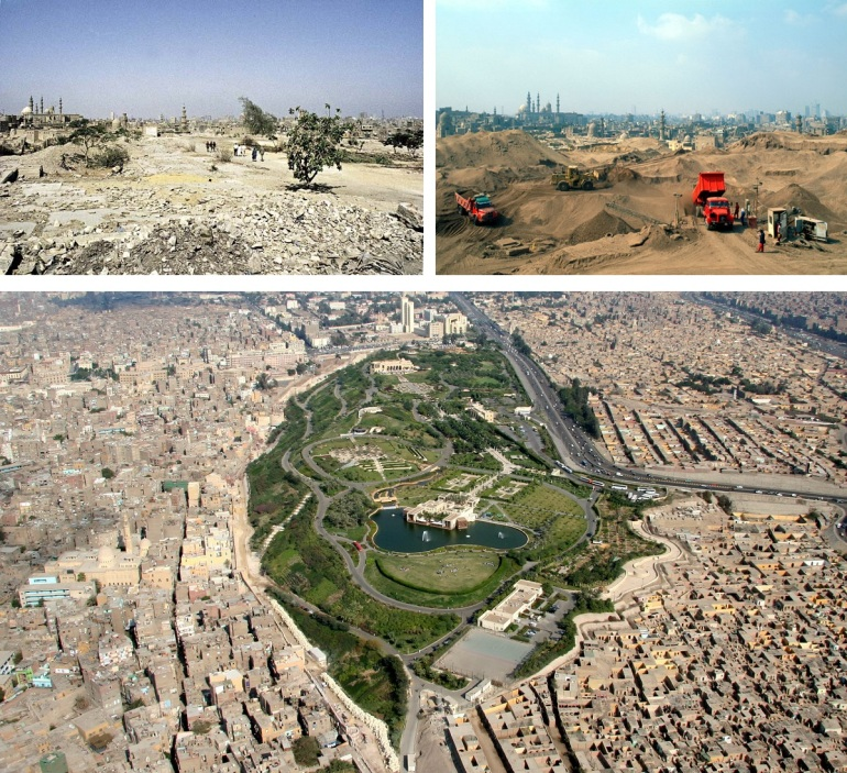 Al Azhar Park 1992 through to its inuaguration in 2005