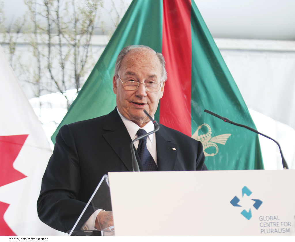 The Aga Khan delivering his remarks at the official opening of the Global Centre for Pluralism in Ottawa, Canada, on May 16, 2017. Photo: Jean-Marc Carisse.