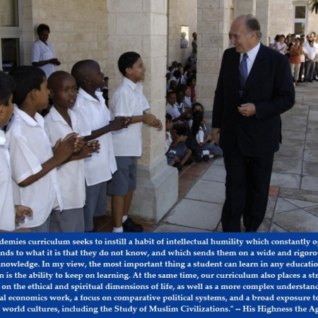 Aga Kahn visiting the Mombasa Academy