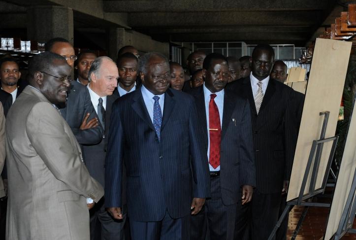 Aga Khan with Kibaki Daily Nation 50th anniversary