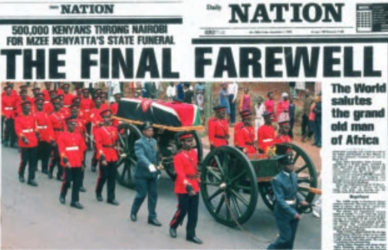 Jomo Kenyatta final farewell
