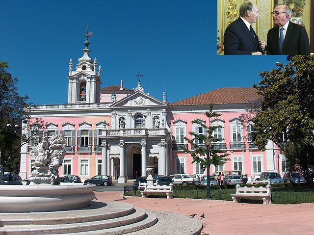 The agreement establishing Portugal as the seat of the Ismaili Imamat took place at the Palace of Necessidades. It is a historical building in the Largo do Rilvas, a public square in Lisbon, Portugal. It serves as headquarters of the Portuguese Foreign Ministry. Palacephoto: Wikipedia.