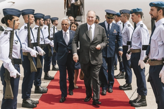 Aga Khan Arrives in Portugal
