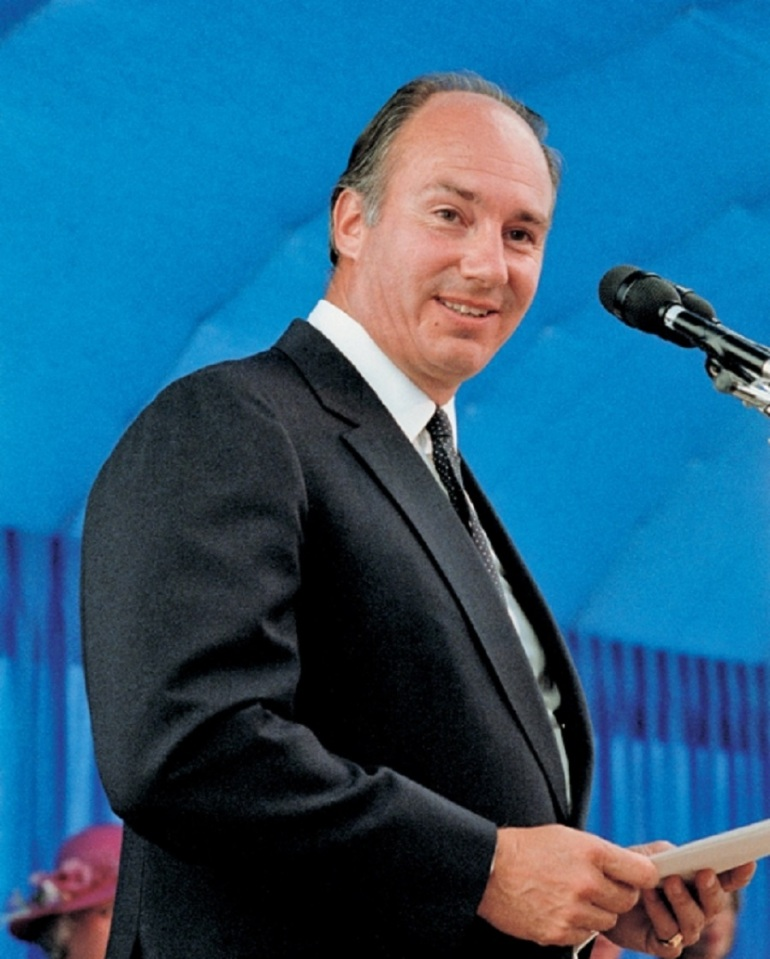 Aga Khan speaking at Foundation Ceremony The Ismaili 14b Burnaby Ismaili jamatkhana and Centre