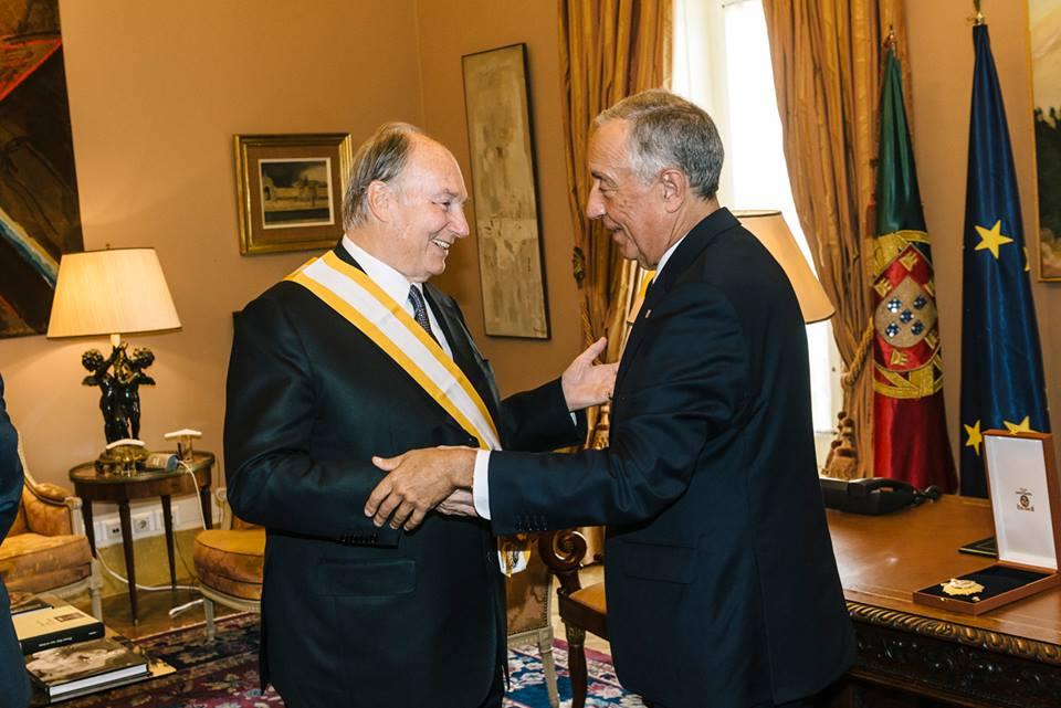July 20 2017 Aga Khan and Portugal President