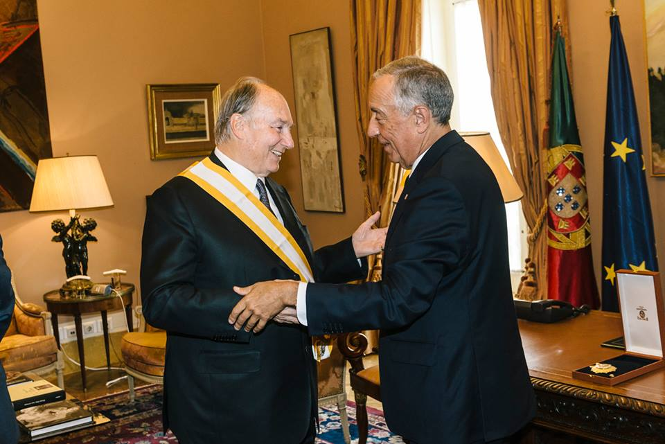 July 20 2017 Aga Khan and Portugal President