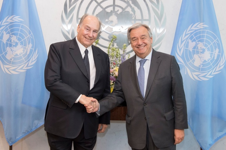 Secretary General meets with Founder and Chairman, Aga Khan Development Network.