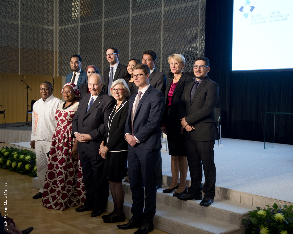 Aga Khan with winners of first pluralism Award