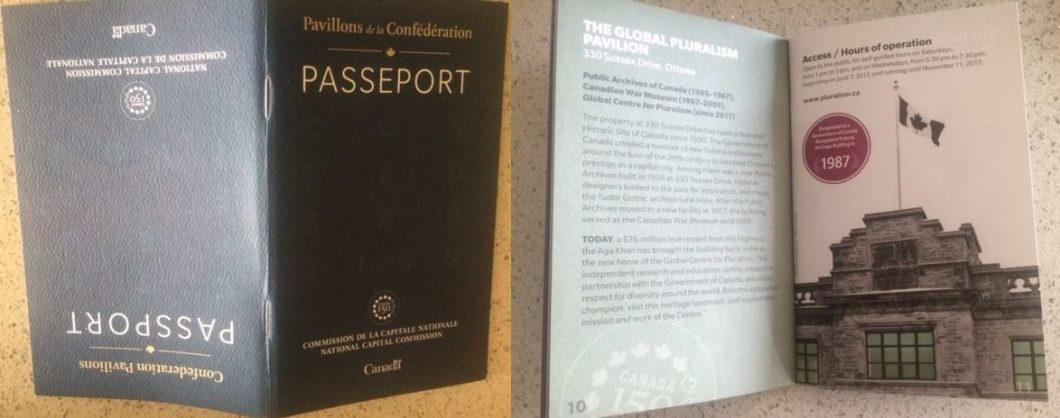 NCC Passport booklet Global Centre Cover page and inside