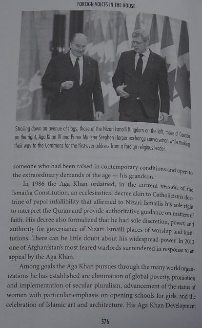 Aga Khan and Harper