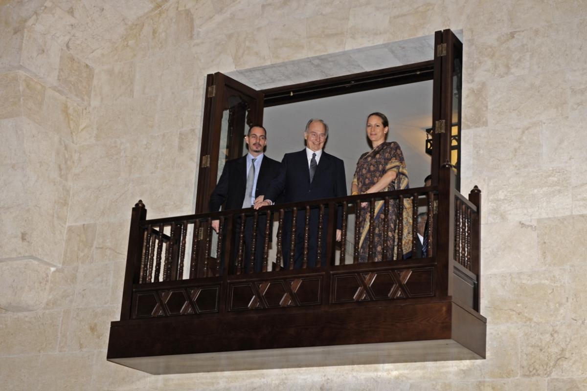 910_Ismaili Centre Dubai Opening Aga Khan Prince Rahim and Princess Zahra