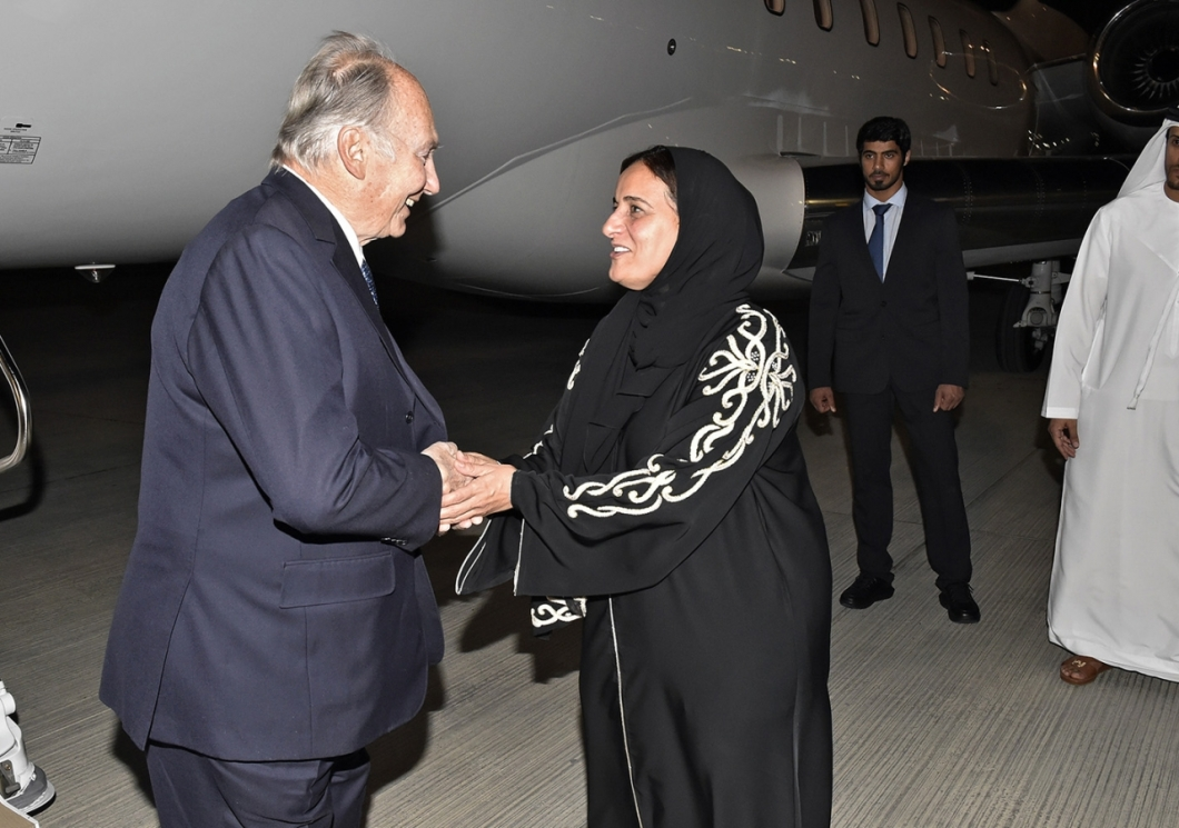 Aga Khan arrival for Aga Khan Award for Architecture