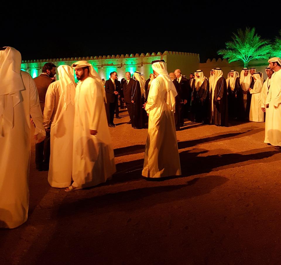 akaa2016-Aga Khan at Al Jahili Fort in Al Ain