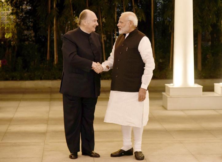 20180221-01a_Aga Khan with Prime Minister Modi