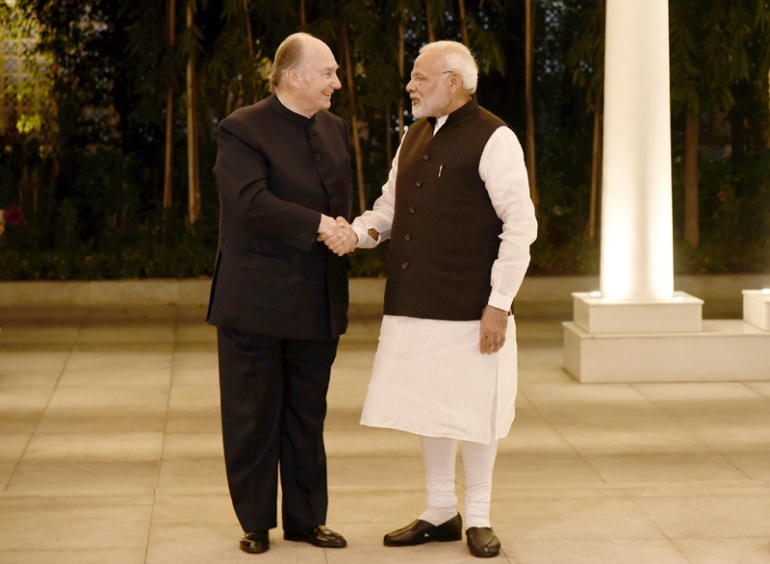 20180221-01a_Aga Khan with Prime Minister Modi