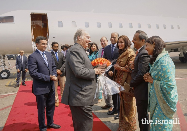 Aga Khan Diamond Jubilee arrival in Mumbai