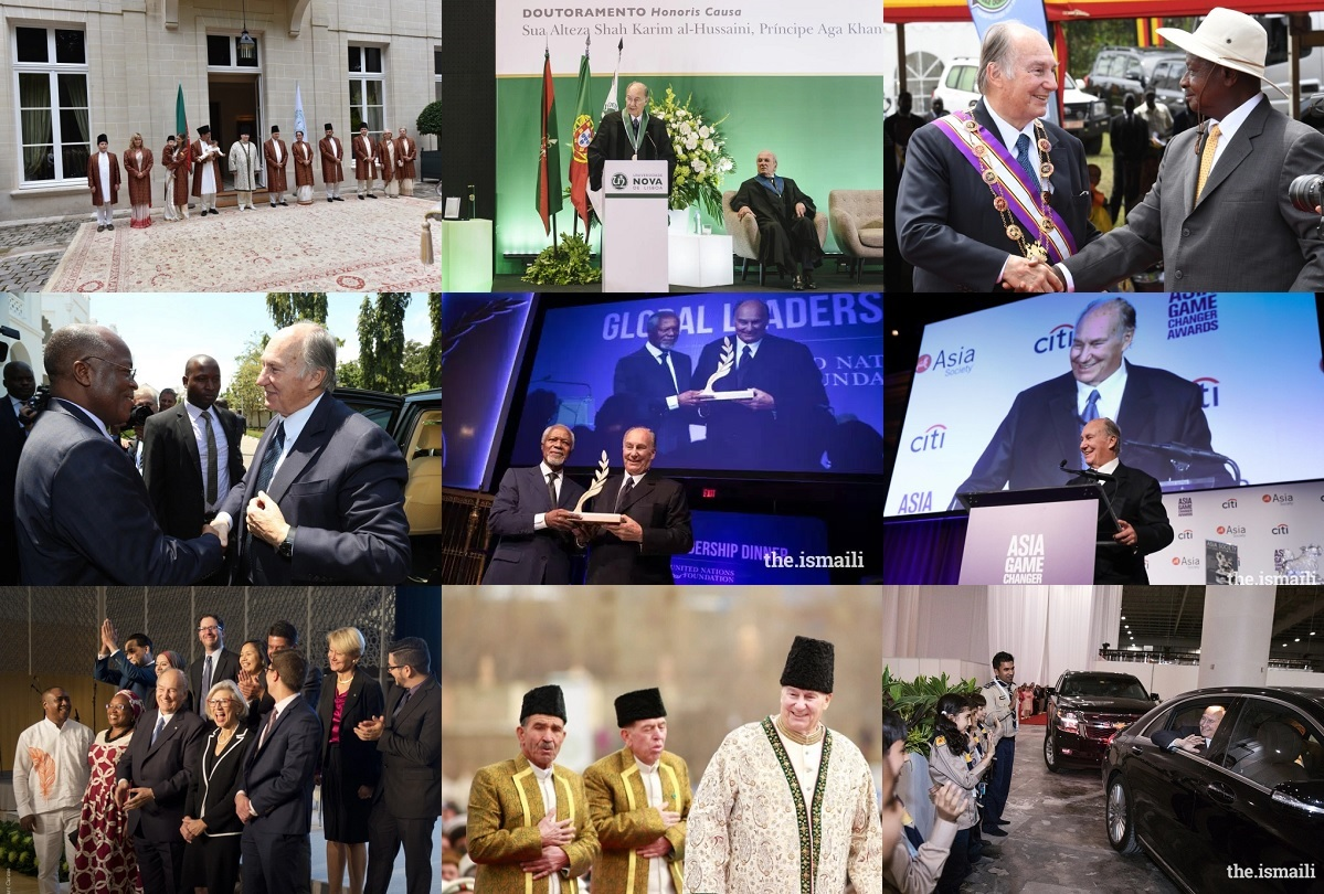 Highlights from the Aga Khan's Diamond Jubilee year from July 11, 2017 to January 31, 2018: Spanning 205 days, Hazar Imam has visited 7 countries and flown 80,000 kms