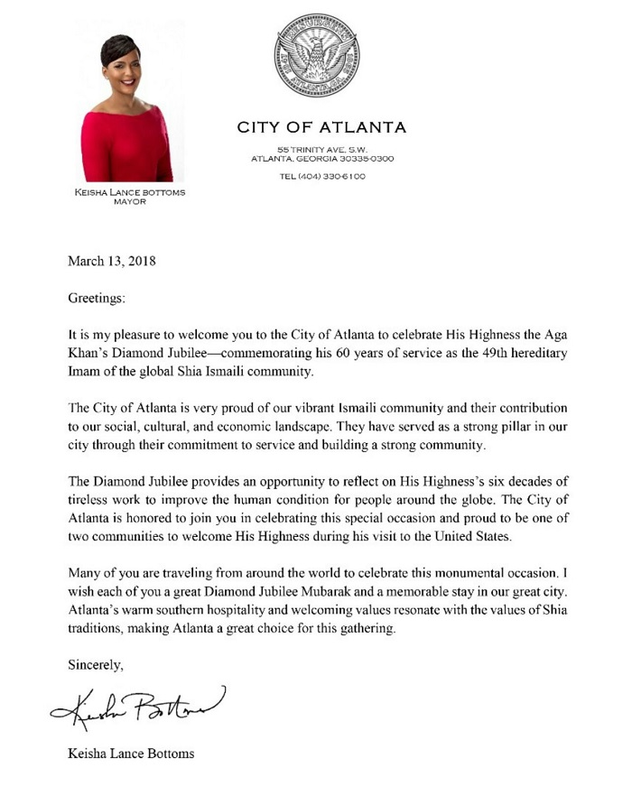 2018-03-13-Aga Khan Diamod Jubilee Visit City of Atlanta