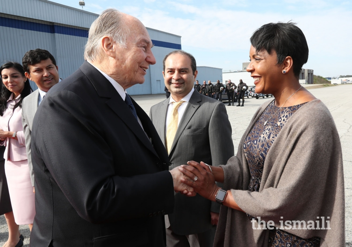Aga Khan Diamond Jubilee visit Atlanta departure