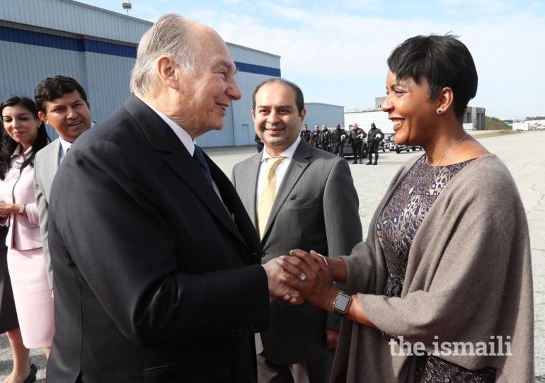 Aga Khan Diamond Jubilee visit Atlanta departure