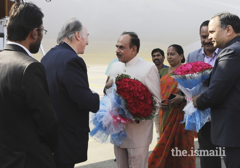 Aga Khan Diamond Jubilee Visit India Flowers 013
