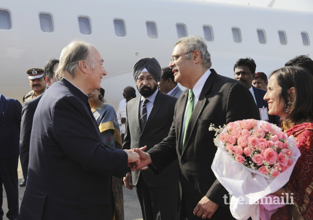 Aga Khan Diamond Jubilee Visit India Flowers 014
