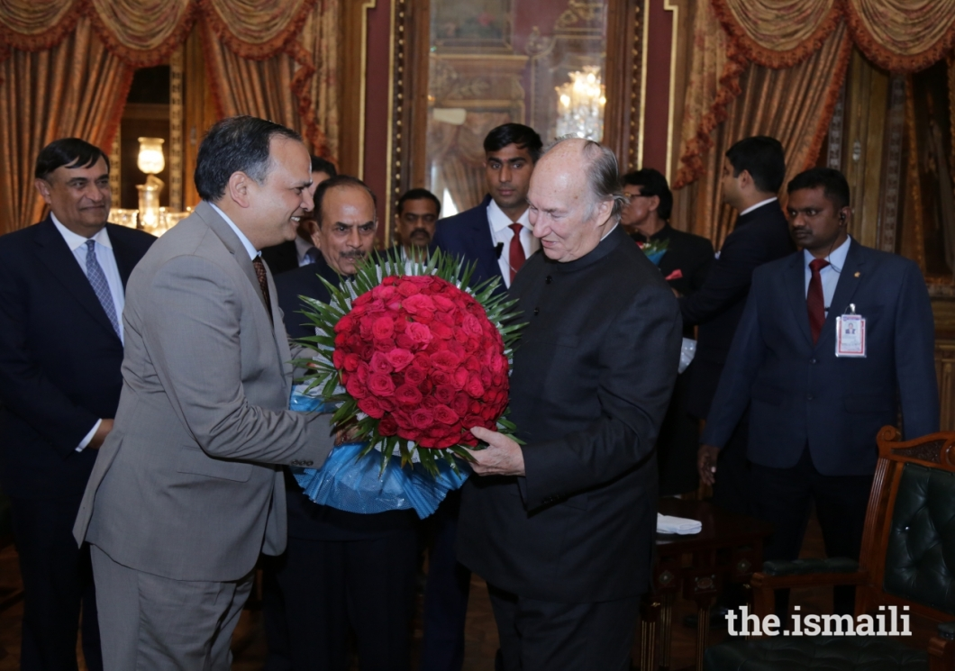 Aga Khan Diamond Jubilee Visit India Flowers 016