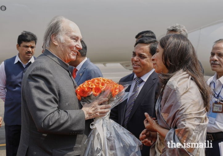 Aga Khan Diamond Jubilee Visit India Flowers 017