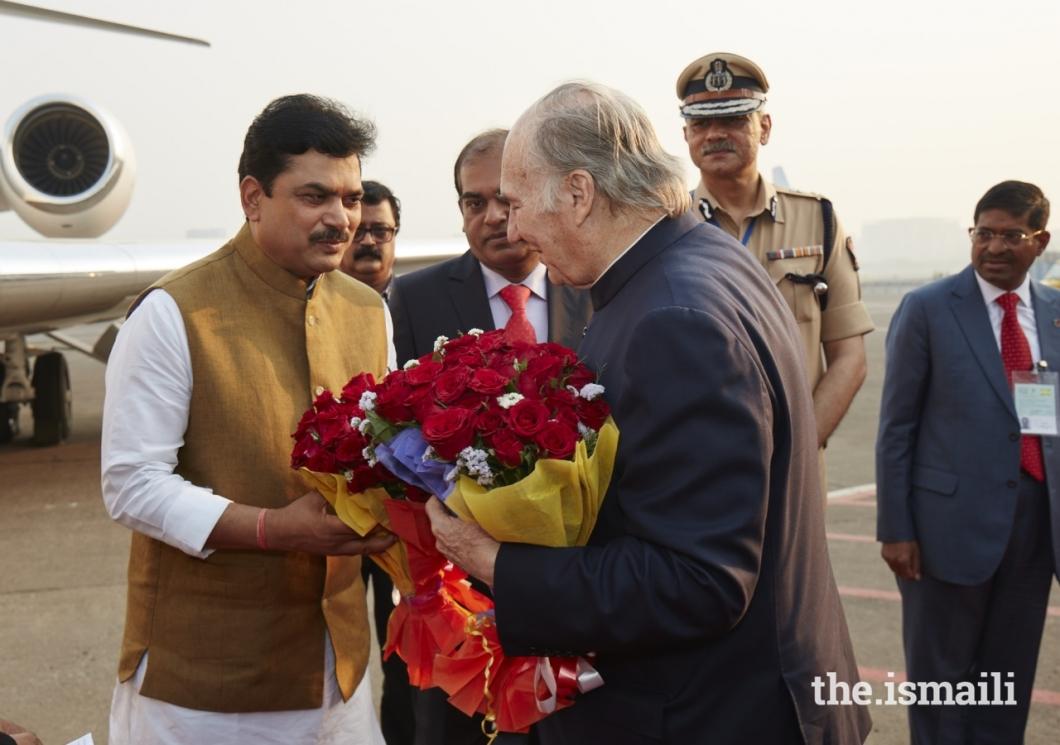 Aga Khan Diamond Jubilee Visit India Flowers 020