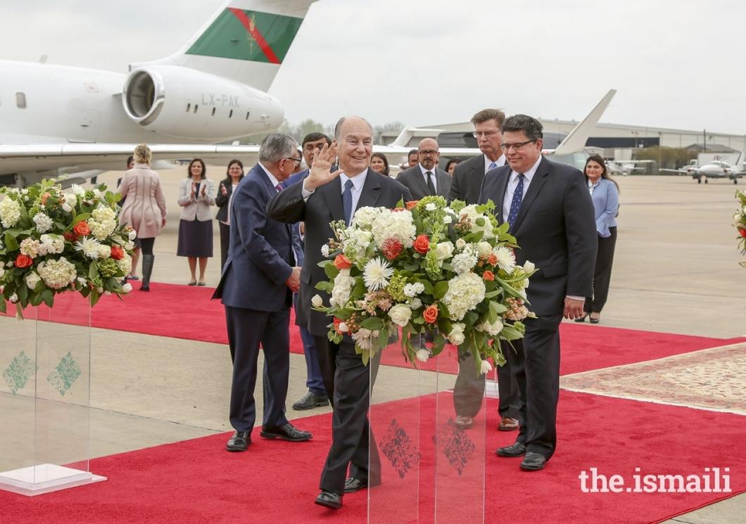 Aga Khan Diamond Jubilee Visit USA Houston Flowers 002