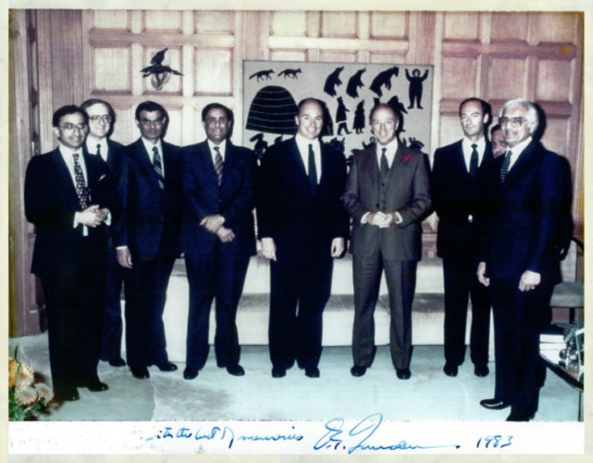 1983-aga khan-and Pierre Trudeau Silver Jubilee photo